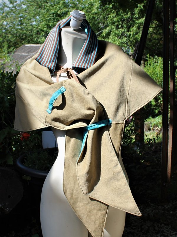 LOOP-SCHAL-CAPE - PONCHO - designed & made by Bri - ein Unikat